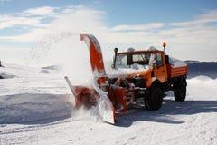 работа метателя снежка Стоковое Фото
