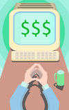 Работа мотивировки дела для долларов Стоковая Фотография RF
