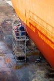 Работа на корпусе корабля Стоковые Фотографии RF