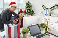 Работа на Рождество стоковое изображение rf