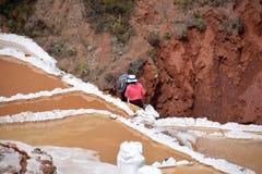 Работа на солевых рудниках Maras Стоковое Фото