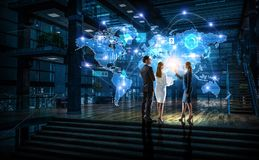 Работа на стратегии глобального бизнеса Стоковые Фотографии RF