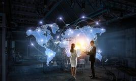 Работа на стратегии глобального бизнеса Стоковые Изображения RF