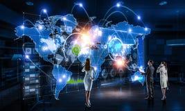 Работа на стратегии глобального бизнеса Стоковое Фото
