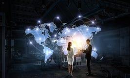 Работа на стратегии глобального бизнеса Стоковые Изображения