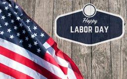 работа дня счастливая американский флаг Стоковая Фотография
