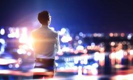 Работа пашет ночное Мультимедиа Стоковая Фотография RF
