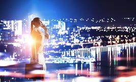 Работа пашет ночное Мультимедиа Стоковые Фото