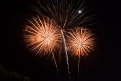 Работа пожара красоты для празднует Стоковое Изображение RF