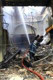 работа пожарного Стоковые Фото