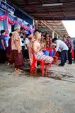 Работа посвящения в Таиланде Стоковая Фотография