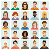работа потребителя персоны людей иконы одного установленная также вектор иллюстрации притяжки corel иллюстрация штока