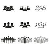 работа потребителя персоны людей иконы одного установленная Стоковое Изображение