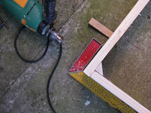 Работа плотничества Стоковые Изображения
