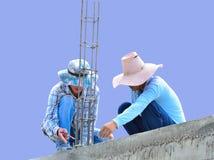 Работа рабочий-строителей Стоковые Фотографии RF