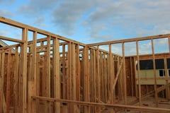 Работа рамки деревянного дома Стоковое Фото