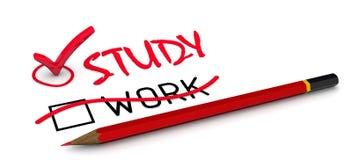 Работа слова исправлена для того чтобы изучить Концепция изменять заключение бесплатная иллюстрация