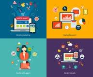 Работа с клиентом и социальная сеть Стоковые Фотографии RF