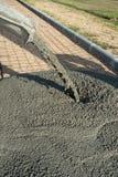 Работа тележек цемента стоковое фото rf