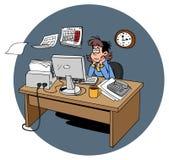 Работа утомлянная женщиной бесплатная иллюстрация