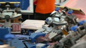 Работа фабрики ткани акции видеоматериалы