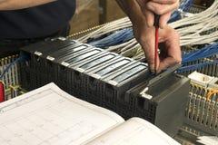 работа электричества электрика измеряя Стоковая Фотография