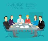 Работа людей встречи планирования на таблице Стоковые Фото