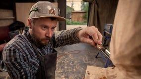 Работа arpenter ¡ Ð в мастерской Стоковая Фотография RF