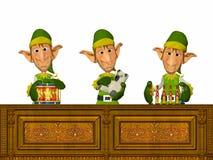 работа elfs Стоковые Изображения