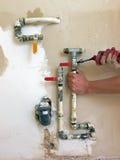 работа instalator стоковое изображение rf