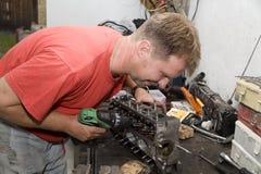 работа repairman стоковая фотография rf
