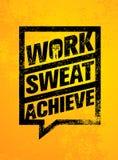работа sweat достигают Цитата мотивировки разминки и фитнеса Творческая концепция знамени Grunge оформления вектора иллюстрация вектора