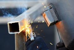 работа welder стоковое фото