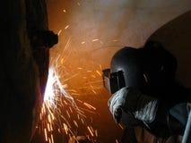 работа welder Стоковые Изображения