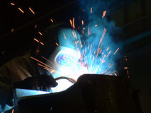 работа welder стоковые фотографии rf