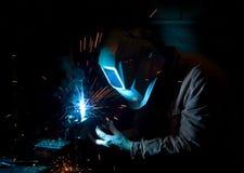 работа welder Стоковая Фотография