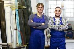 2 работника в coveralls Стоковое Фото