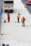 3 работника дороги Стоковое Фото