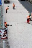 3 работника дороги Стоковые Фотографии RF