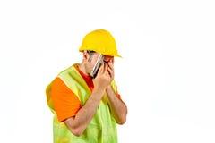 Работника manuel тоскливости отказа оружие виновного опечаленное в руке изолированной на белом портрете стоковая фотография rf