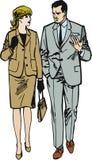 работники белизны пар предпосылки Стоковое Фото