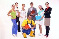 работники группы счастливые Стоковые Фото
