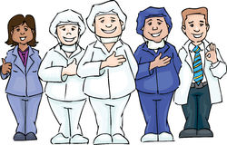 работники команды 3 стационара медицинского соревнования предпосылки содружественные белые Стоковые Фотографии RF