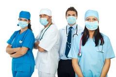 работники маски медицинского соревнования защитные Стоковая Фотография