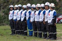 Работники машины скорой помощи в эквадоре Стоковое Изображение RF