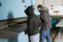 работники машины Стоковые Фото