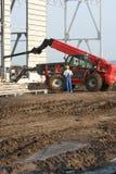 работники места инженерного сооружения стоковое изображение rf