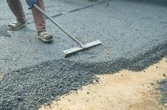 Работники на строительстве дорог Стоковые Фотографии RF