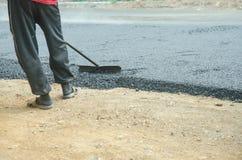 Работники на строительстве дорог Стоковое Фото
