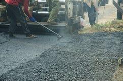 Работники на строительстве дорог Стоковая Фотография